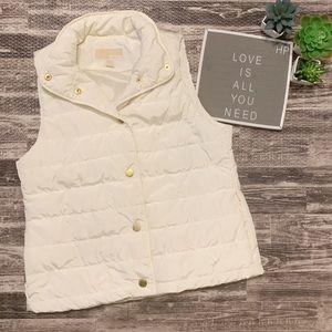 Women's Michael Kors Puffer White Ivory Vest